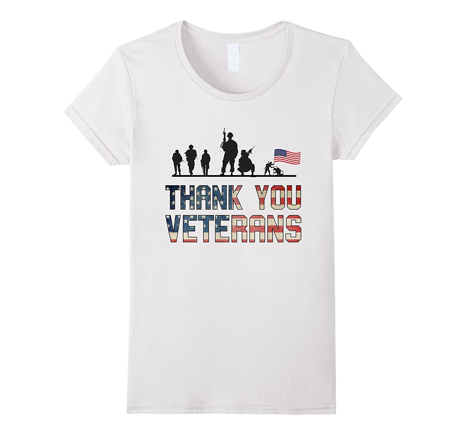 Independence Day 4th of July Thank you Veterans T-shirt