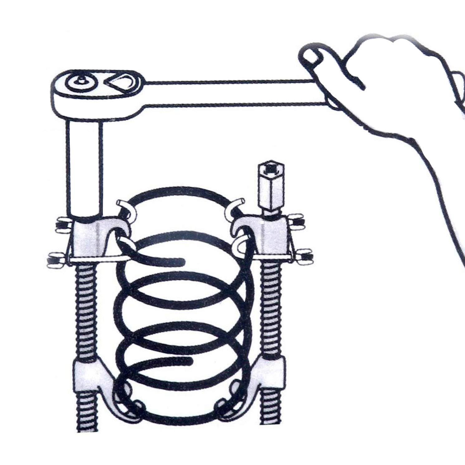 8MILELAKE Pro Internal Coil Strut Remover Coil Spring Compressor Installer Suspe
