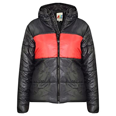 66c75bcfb958 A2Z 4 Kids® Kids Girls Boys Designer s Black Contrast Panel Hooded ...