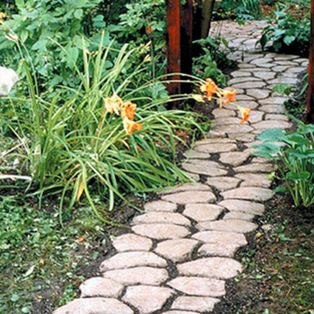 1x Molde Plástico Moldeado DIY Pavimentación Pathmate Molde De Fábrica - Rose Red, 43 * 43 * 4cm: Amazon.es: Hogar