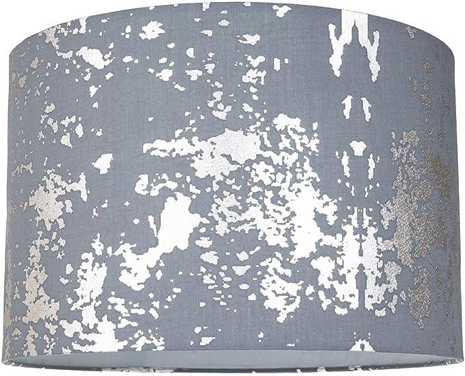 Pantalla moderna de tela de algodón gris con decoración de lámina ...