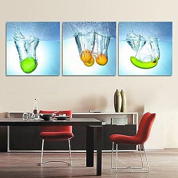 Dekoration Malerei/Einfache Frucht Glas Esszimmer Modern Paintings/ Küche  Triptychon/ Restaurant Bild Und
