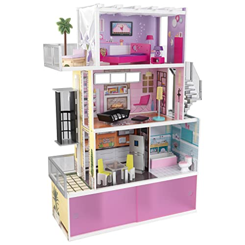 KidKraft Beachfront Mansion Dollhouse with Furniture