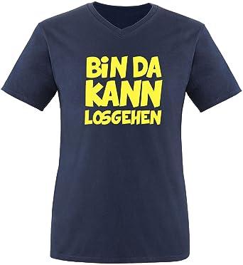 EZYshirt Bin Da Kann losgehen Herren T-Shirt V-Neck