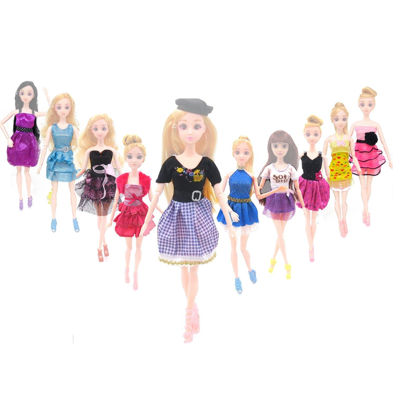 bf2f8a6da BEETEST Barbie Muñecas Fashion Accesorios Zapatos ropa Portable Set Vestido  de fiesta con accesorios de decoración