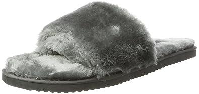 flip flop Damen Pool Fur Pantoletten, Grau (Steel), 38 EU