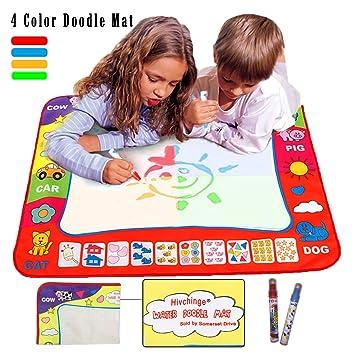 Amazon.com: Aqua Doodle Mat 4 Color Children Water Magic Drawing ...