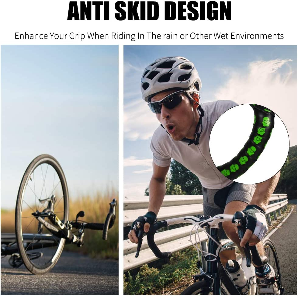 Details about  /2Pcs Skidproof Durable Shock-Absorbing Road Bicycle Handlebar Tapes Straps  OZP