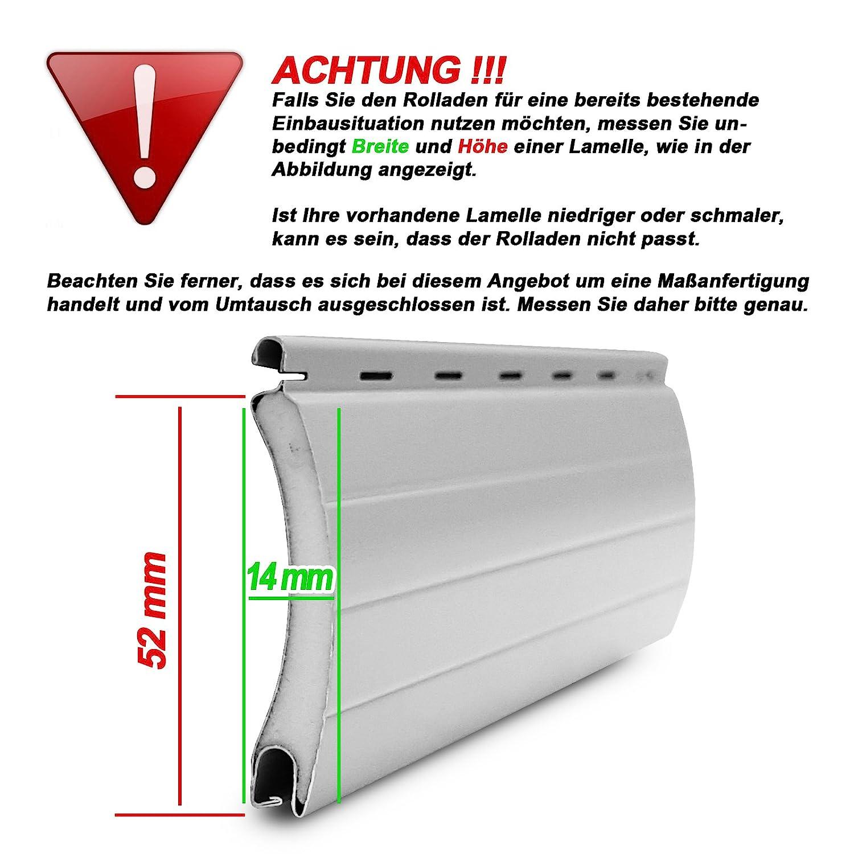 Maxi Maxi Maxi Rolladenpanzer ALU Maßanfertigung Wunschmaß 75cm-200cm Breite x 160cm Höhe B071CYQQL2 Fensterlden e51c78
