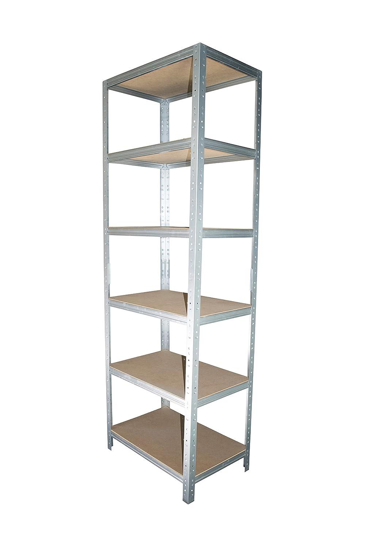 shelfplaza/® HOME /Étag/ère charge lourde m/étallique galvanis/é de 180x70x40 cm avec 6 tablettes entrep/ôts garage grenier atelier maison