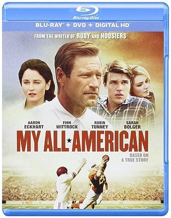 My All American Blu Ray Import Amazonca Aaron Eckhart Robin Tunney DVD