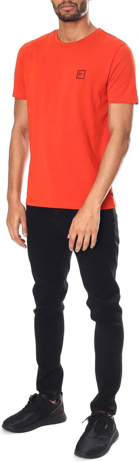 Hugo Boss Tales Cotton Plain Orange T-Shirt S Orange