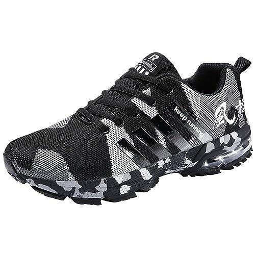 Wealsex Zapatos para Correr En Montaña Asfalto Aire Libre Deportes Zapatillas De Running para Hombre Cojín de Aire Camo Estilo Zapatos Casuales: Amazon.es: ...