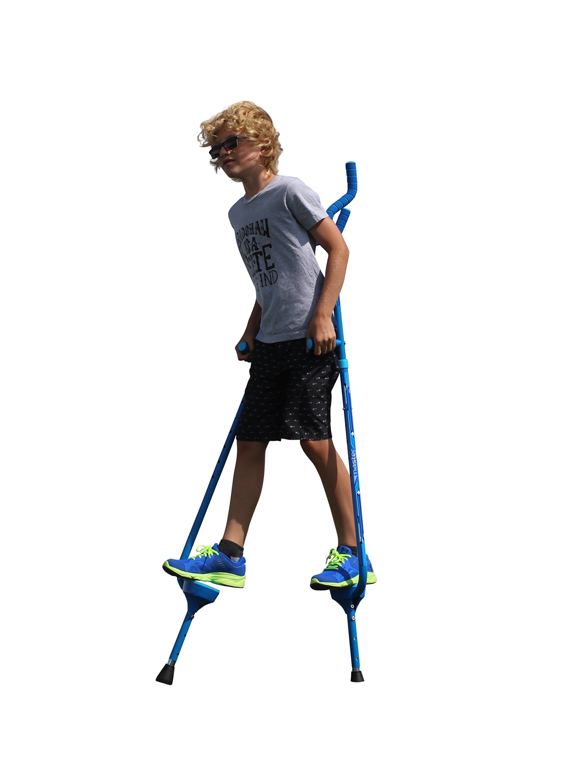 Flybar Master Walking Stilts for Kids Ages 10 +, Weights Up to 200 Lbs - Adjustable Height with Foam Handles & Shoulder Rests - Fun Outdoor Toys for Girls & Boys by Flybar