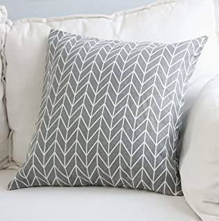 Aimeer 24 X 24 Inch Home Decorative Sofa/Bed Throw Pillow Cushion Cover  With Invisible