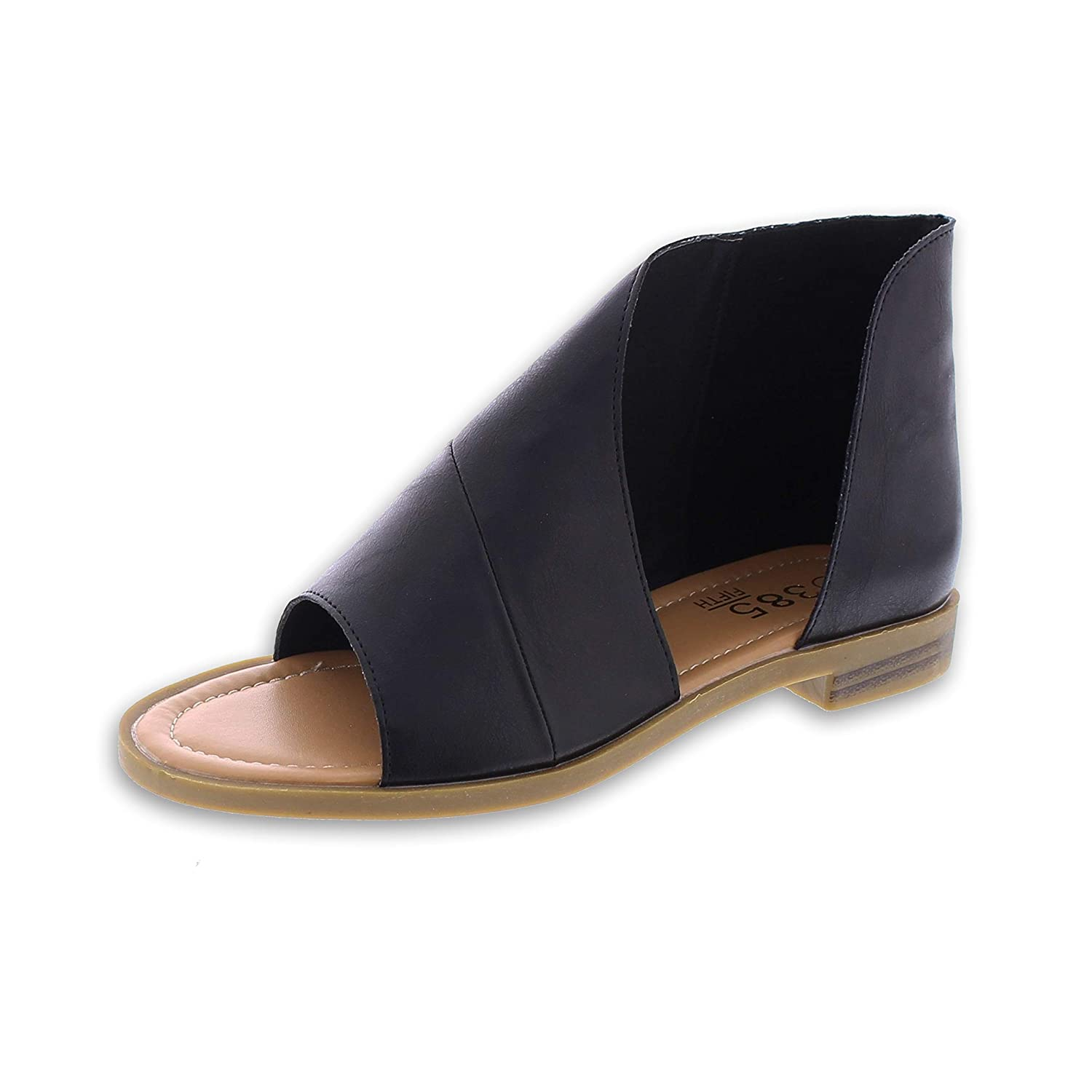 Want: A Chic Pair Of Asymmetrical Flat Sandals In A Cool ColorCombination