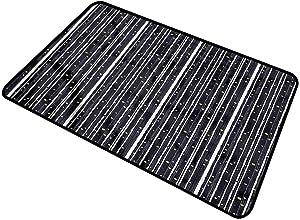 Stripes, Bath Mat Barcode Pattern Dots Rectangular Welcome Doormat for Home Indoor/Outdoor Floor Entrance 24x36 Inch