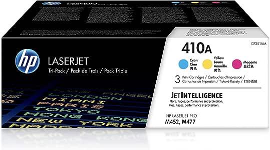 HP 410A | CF411A, CF412A, CF413A | 3 Toner Cartridges | Cyan, Yellow, Magenta