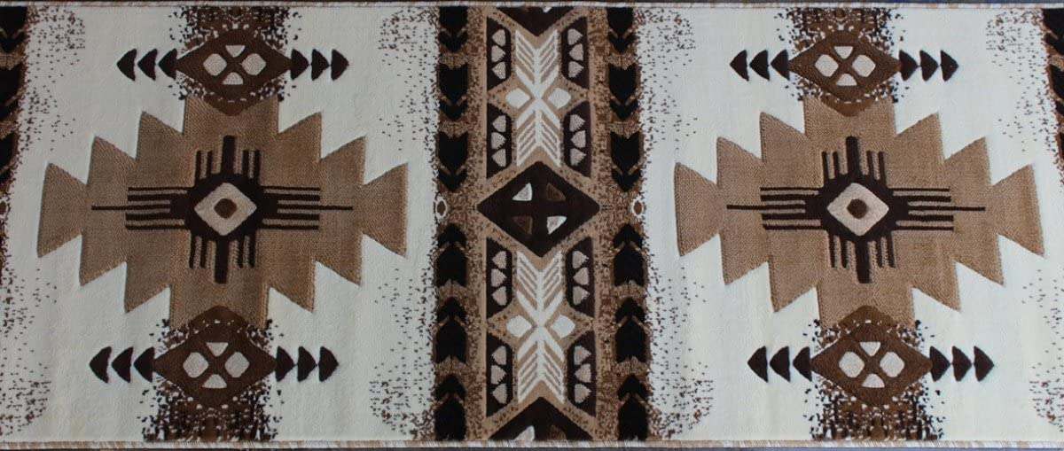 Concord Global Trading South West Native American Runner Area Rug Design C318 Ivory 32 Inch X 15 Feet 6 Inch