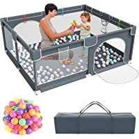 Amazon Price History:Baby Playpen,Kids Large Playard with 50PCS Pit Balls,Indoor & Outdoor Kids Activity Center,Infant Safety Gates with…