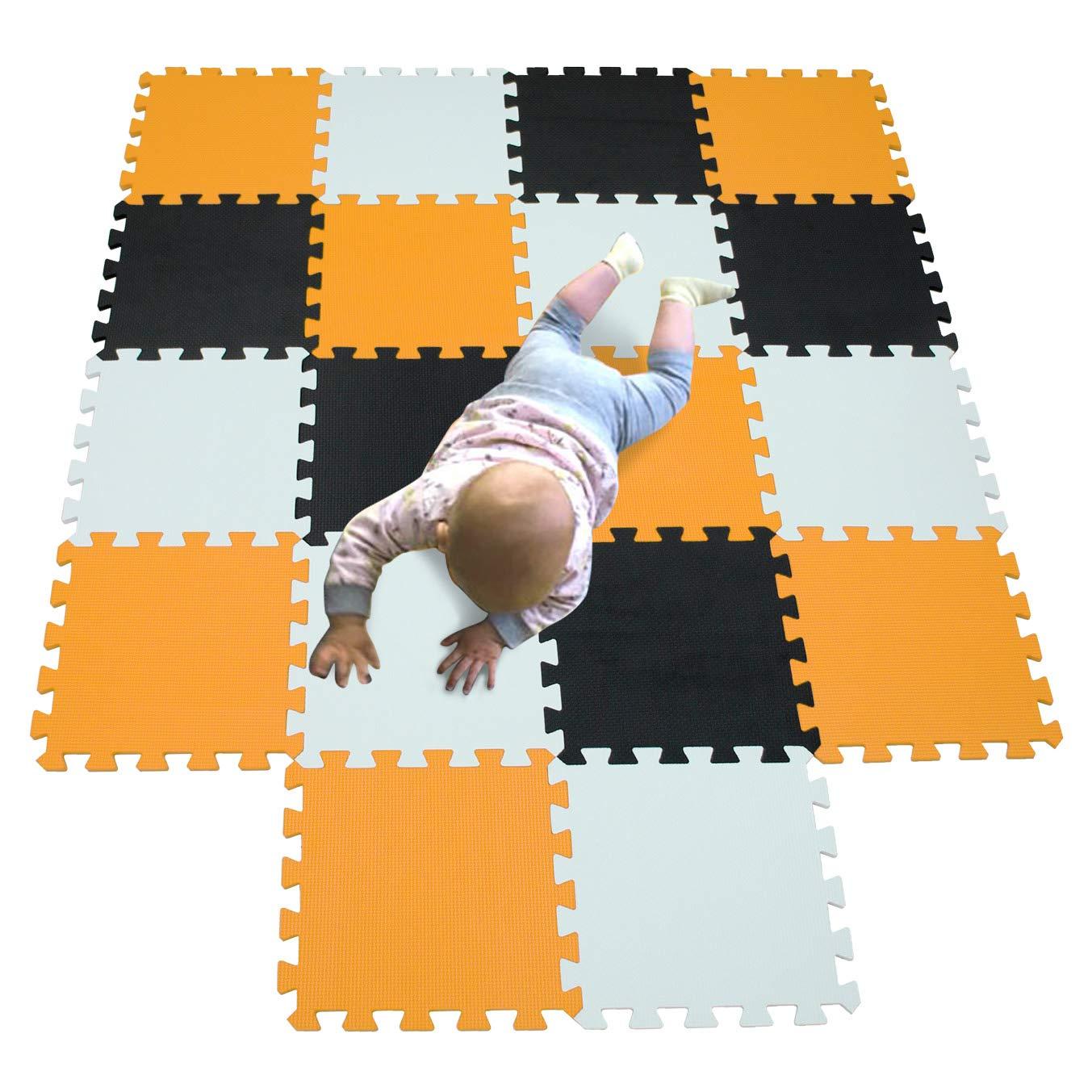 MQIAOHAM Bebe Dalle de Enfant Epais Jeu Mousse pour Protection Puzzles Sport Multicolore 5color2