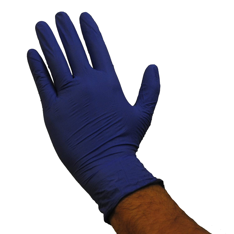 Emerald Shannon 7122 Powder Free General Purpose 4Mil Glove, Vinyl Blue, Full Case, Size: X-LARGE
