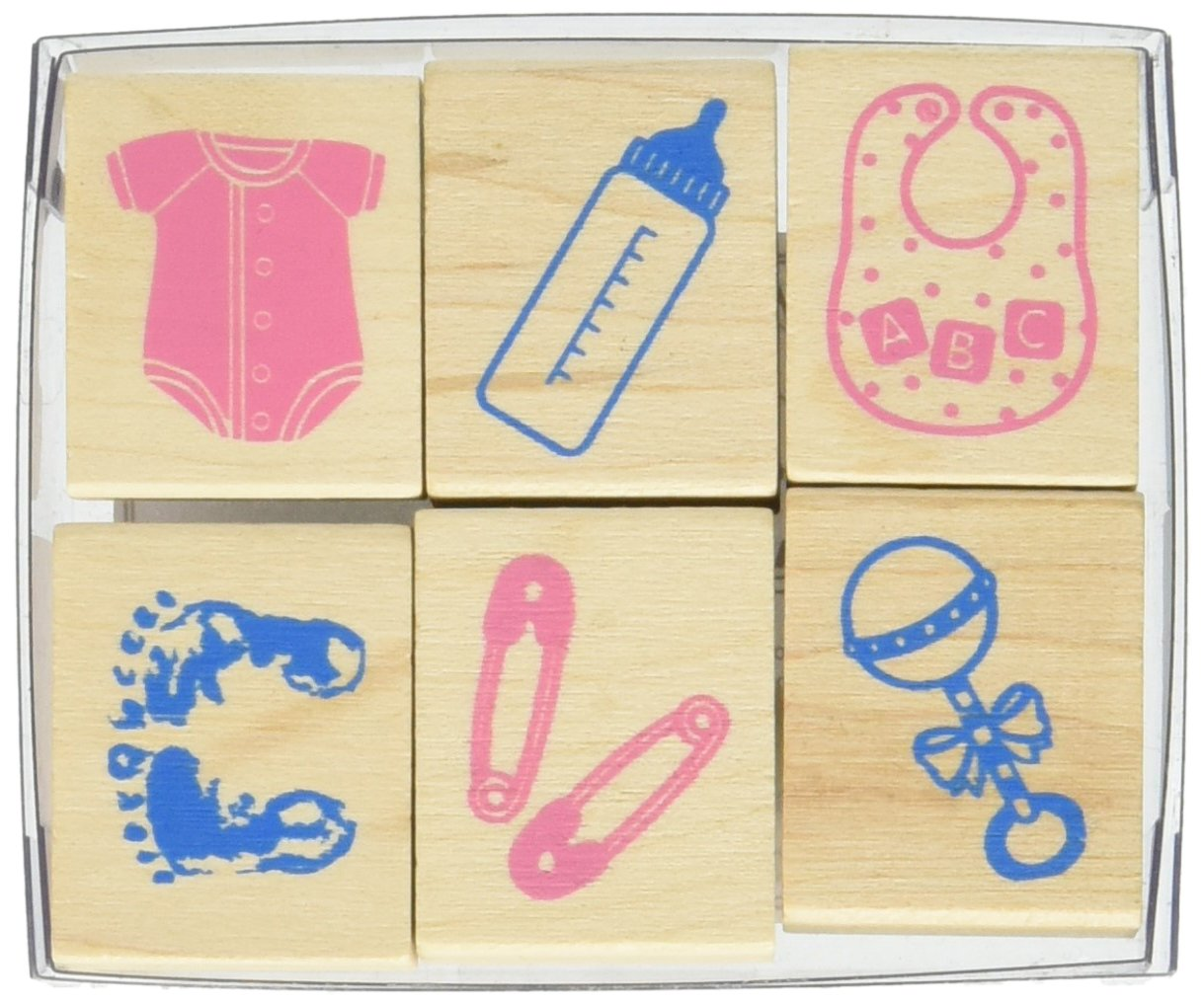 Hero Arts LL730 Mounted Rubber Stamps, Woodblock Stamps Set - Welcome New Baby
