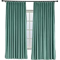 ChadMade Pinch Pleat 42W x 84L Blackout Lined Velvet Curtain Drapery Panel (1 Panel) for Traverse Rod or Track, Living Room Bedroom Meetingroom Club Theater Patio Door
