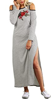 product image for Funfash Women Plus Size Open Shoulders White Black Long Maxi Dress Made in USA
