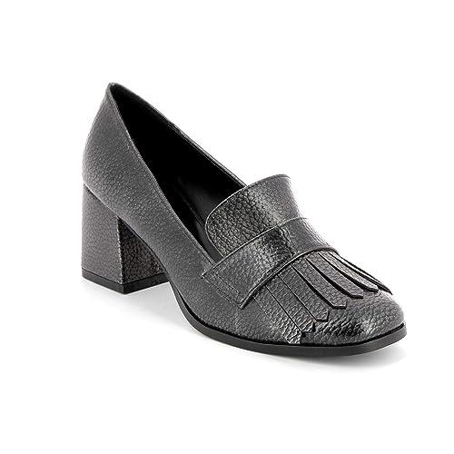 ESTRADÀ by Scarpe&Scarpe - Mocasines Altos con Flecos, con Tacones 6 cm: Amazon.es: Zapatos y complementos