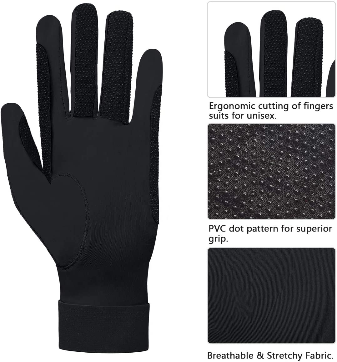 ChinFun/Womens Horse Riding Gloves Stretchable Equestrian Gloves Breathable for Outdoor Horseback Cycling Driving