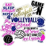 Volleyball Stickers (10 Pack), Perfect Choice for Motivational Volleyball Water Bottle Stickers, Anywhere You Need Volleyball