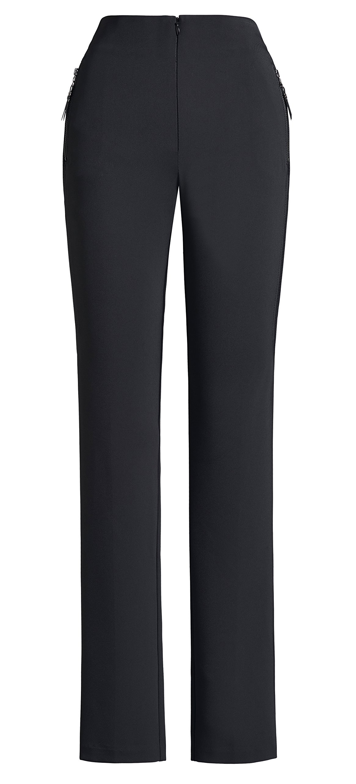 Joseph Ribkoff Black Fitted Pants + Functional Mini Pockets Style 151488 - Size 12