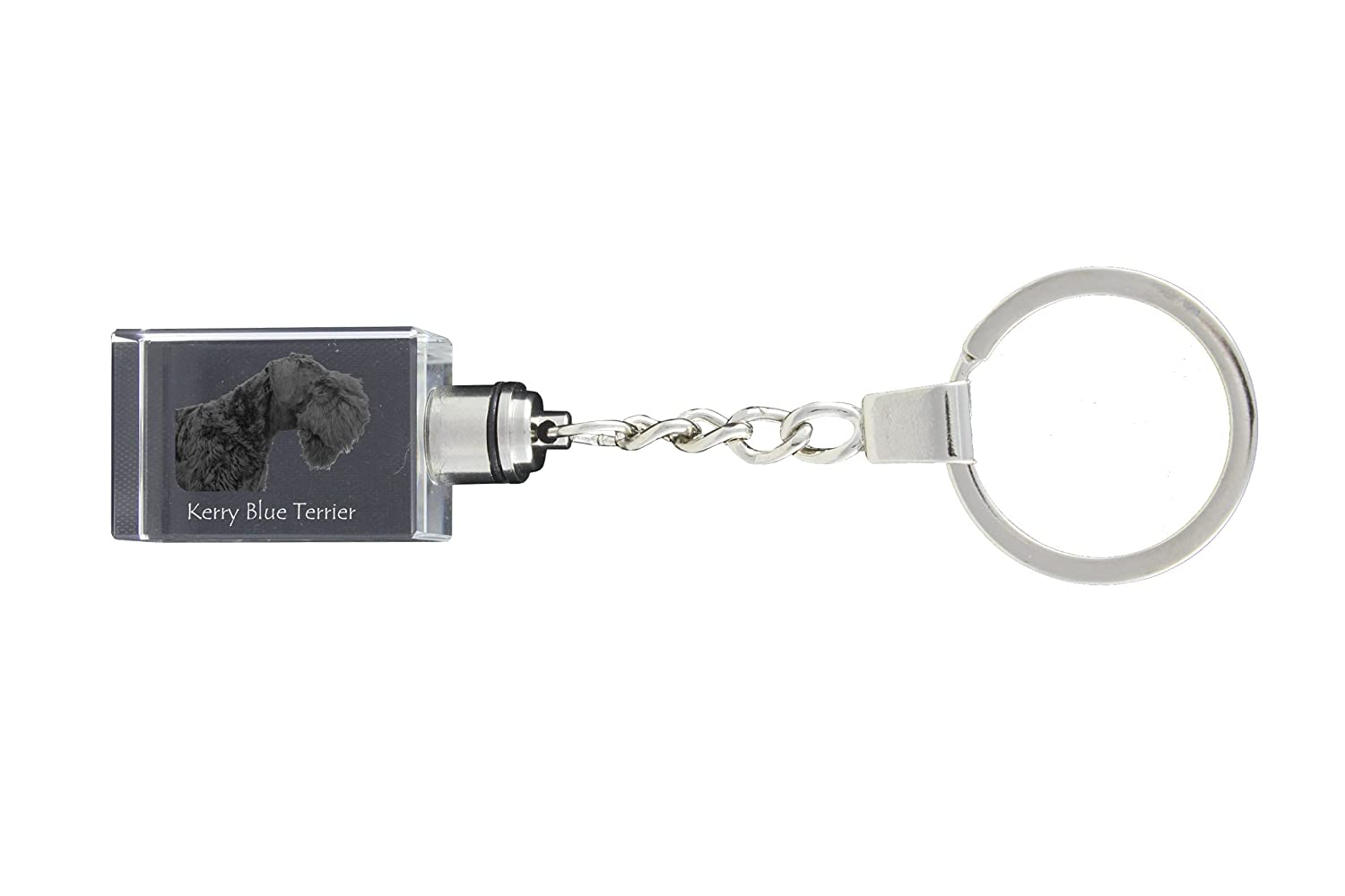 Exceptional Gift Keychain Kerry Blue Terrier Dog Crystal Keyring