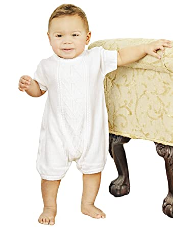 1ccf0fbf6e65 Amazon.com: Braeden 3 Month Knit Christening Baptism Blessing Outfit ...