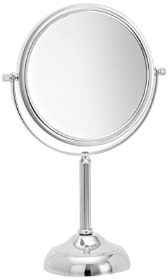 Jerdon JP916C 6-Inch Vanity Mirror with 5x Magnification, Chrome Finish