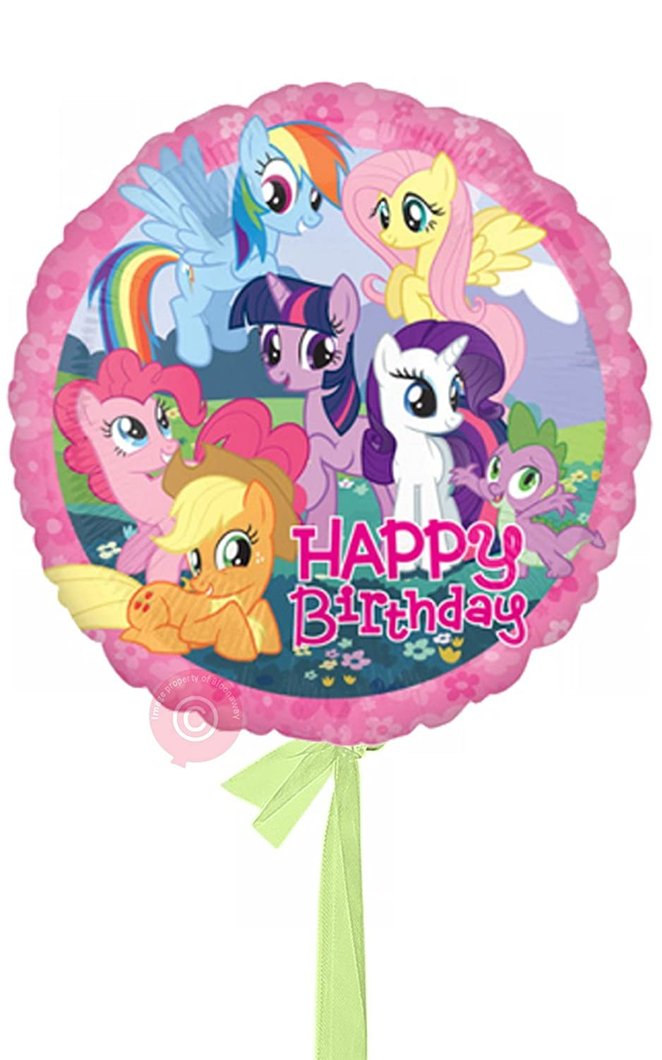 Single Balloon My Little Pony Happy Birthday  Inflated Birthday Helium Balloon Delivered in a Box  Biggest Bouquet  10 Balloons  Bloonaway