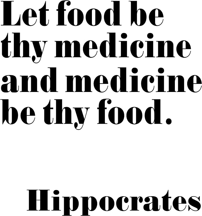 Wallbuddy Hippocrates Quote Health Quote Let Food Be Thy Medicine (8 x 10)