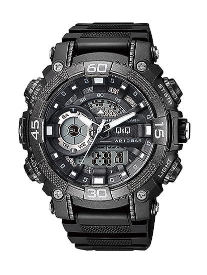 Q&Q Reloj de los hombres GW87J001Y analógica / digital con Correa de Resina