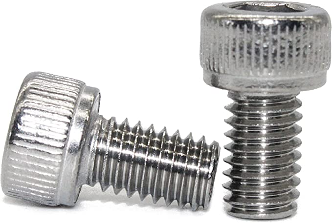AISI 304 acero inoxidable rosca completa Fullerkreg M6-1.0 x 95 mm cabeza de vaso de tornillos rosca de m/áquina 18-8 acabado brillante Cantidad 10 DIN 912 Allen Socket Drive
