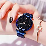 Acnos Hours 3,6,9 Represents Line and 12 Represent Diamond Blue 21st Century Magnet Analog Watch for Girls and Women