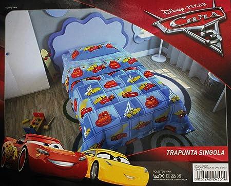 Piumone Letto Singolo Cars.Russo Tessuti Trapunta Piumone Cotone Letto Singolo 1 Piazza Disney New Pixar Cars Azzurra Amazon It Casa E Cucina