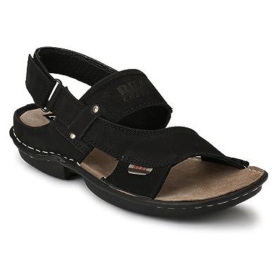 Fashion Tree Genuine Leather Sandals Men Black Colour 8386caf2c