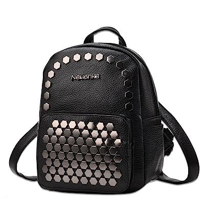 Amazon.com  Nevenka Women Soft Faux Leather Backpack Purses Cute Little  Bags for Young Girls (BLACK)  Shoes 2d75c02bfa534