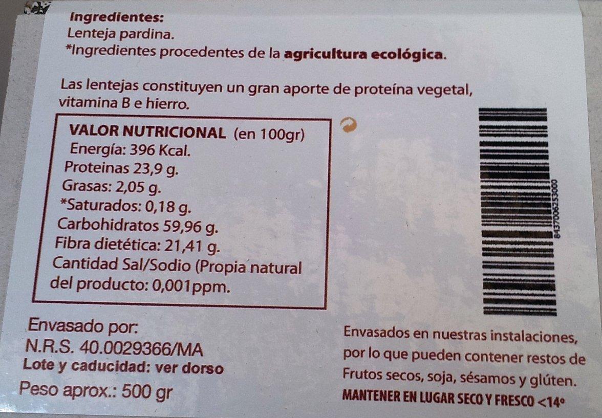 EcoSpain Lentejas Ecológicas Pardina - 500 gr: Amazon.es: Alimentación y bebidas