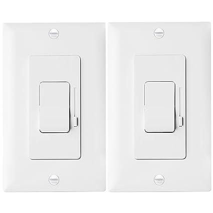 LED Dimmer Switch by Enerlites Rocker Light Switch, Single Pole/3 ...