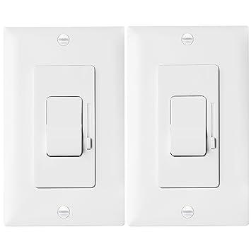 led dimmer switch by enerlites rocker light switch single pole 3 way led dimmer