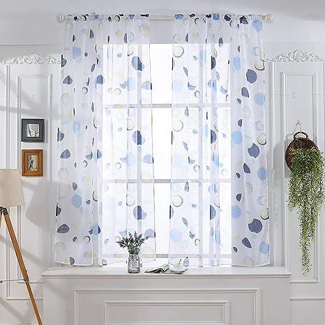 Cortina de tul para ventana, 1 panel de tela, diseño de ...