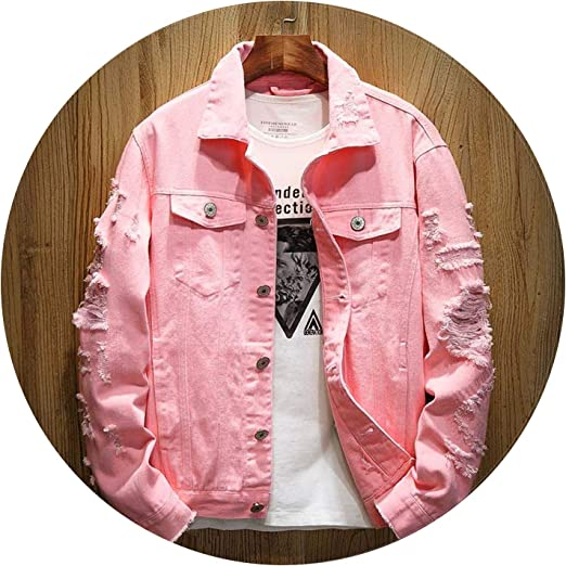 Women Vintage Fashion Slim Fit Ripped Hole Denim Short Jacket Jeans Coat Outwear