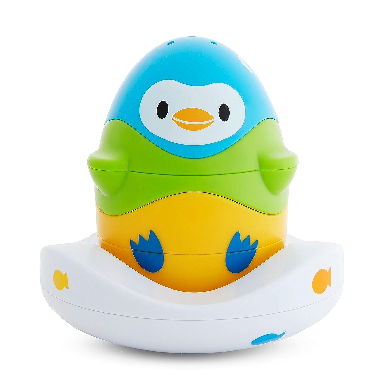 Munchkin Stack N' Match Bath Toy, Blue, Green & Yellow